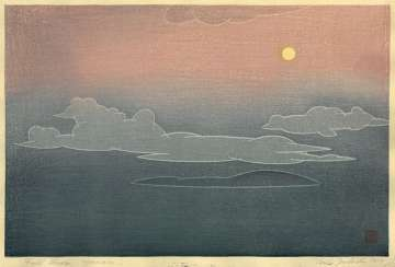 "Yoshida Tōshi ""Full Moon, Hawaii"" 1954 thumbnail"